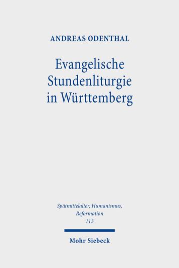 Cover Evangelische Stundenliturgie in Württemberg