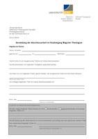 Anmeldung der Abschlussarbeit - Merkblatt und Anmeldeformular