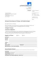 Antrag auf Anrechnung von Prüfungs- und Studienleistungen (PO 2008)