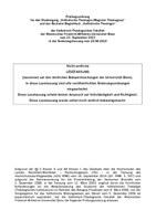 Prüfungsordnung Magister Theologiae und Bachelor Begleitfach (Lesefassung 2019)