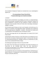 """Ausschreibung """"W1-Juniorprofessur (Tenure-Track W3) für Fundamentaltheologie und christliche Identitäten"""""""